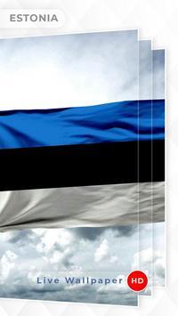 Estonia Flag 3D live wallpaper screenshot 1