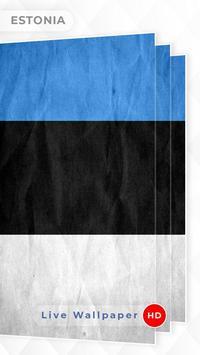 Estonia Flag 3D live wallpaper screenshot 2