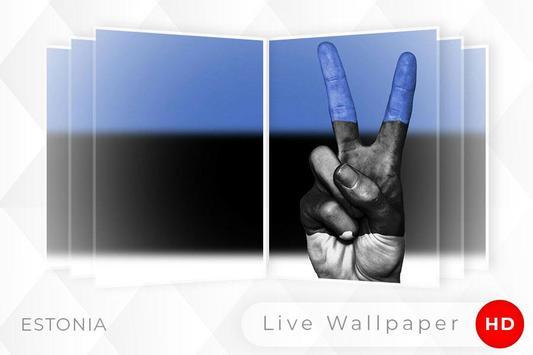 Estonia Flag 3D live wallpaper screenshot 4