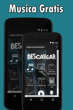 Descargar y Bajar Música Gratis A Mi  Celular Guía poster