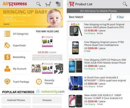 AliExpress - 5 Aplikasi Shopping Android Yang Membuat Shopping Menjadi Tanpa Harus Keluar Rumah