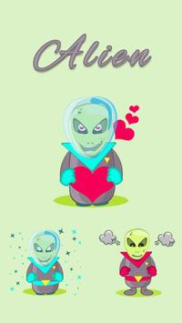 Alien Stickers for WhatsApp poster