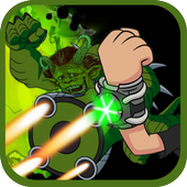 Alien Ben Humansaur Transforms Fight & Run icon