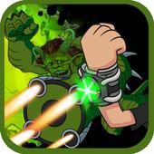 Alien Ben Humansaur Transforms Fight & Run icon