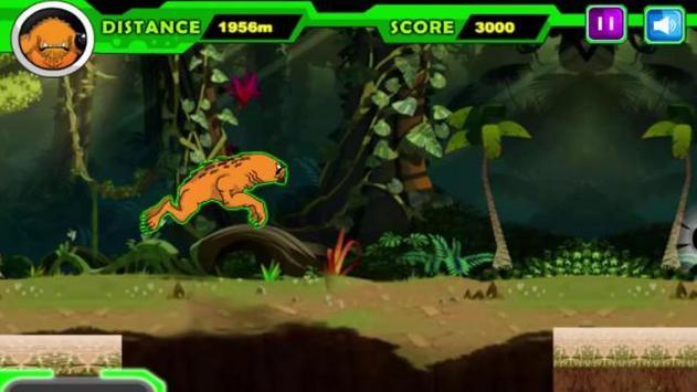 Alien Ben Humansaur Transforms Fight & Run apk screenshot