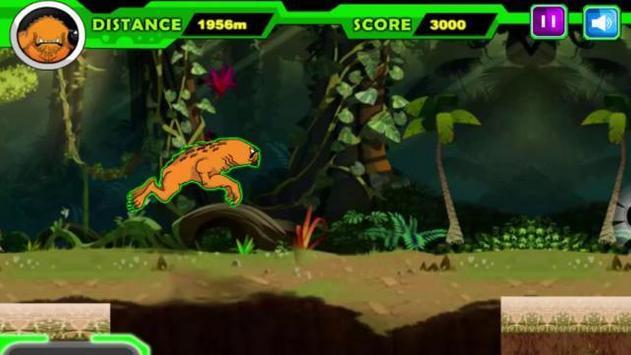 Alien Ben Humansaur Transforms Fight & Run screenshot 1