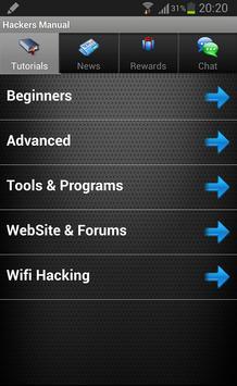 Hackers Manual Hack WiFi FB apk screenshot