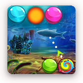 bubble beach shooter icon