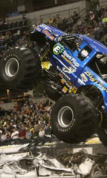 monster truck competition wallpaper poster