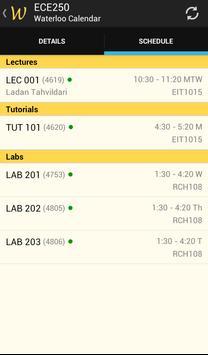 Waterloo Course Calendar apk screenshot