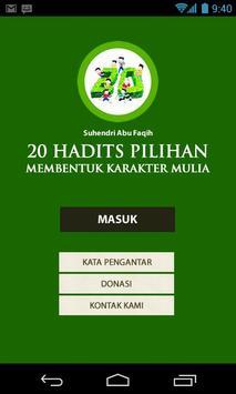 al-isyrun 20 Hadis Pilihan poster
