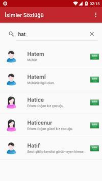 İsimler Sözlüğü apk screenshot