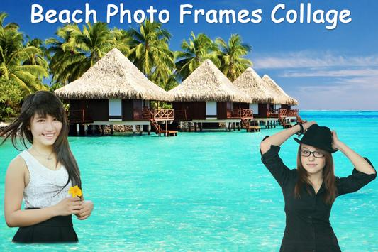 Beach Photo Frames Collage poster