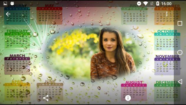 Calendar Photo Frames 2017 screenshot 2