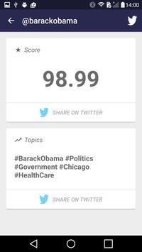 Influence for Twitter apk screenshot