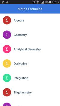 All Math Formulas poster