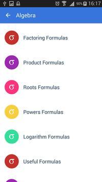 All Math Formulas apk screenshot