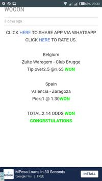 ALL SURE 2+ ODDS SOCCER TIPS screenshot 2