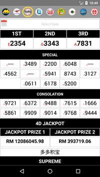 ALL4D LIVE Results (MY & SG) Perdana, Lucky Hari screenshot 2