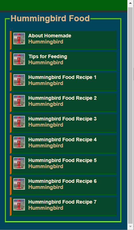 Hummingbird food recipes easy simple for android apk download hummingbird food recipes easy simple screenshot 5 forumfinder Choice Image
