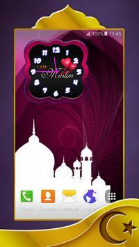 Muslim Analog Clock poster