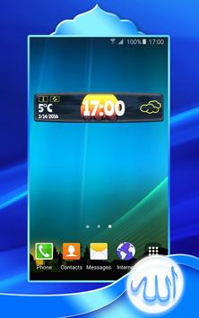 Allah Clock Weather Widget apk screenshot