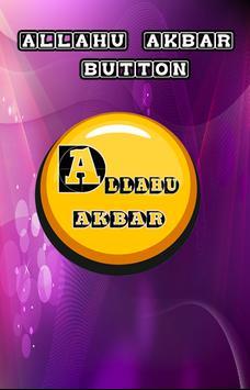 Allahu Akbar Button poster