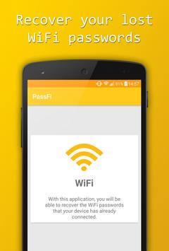 PassFi - Recover WiFi Passwords poster
