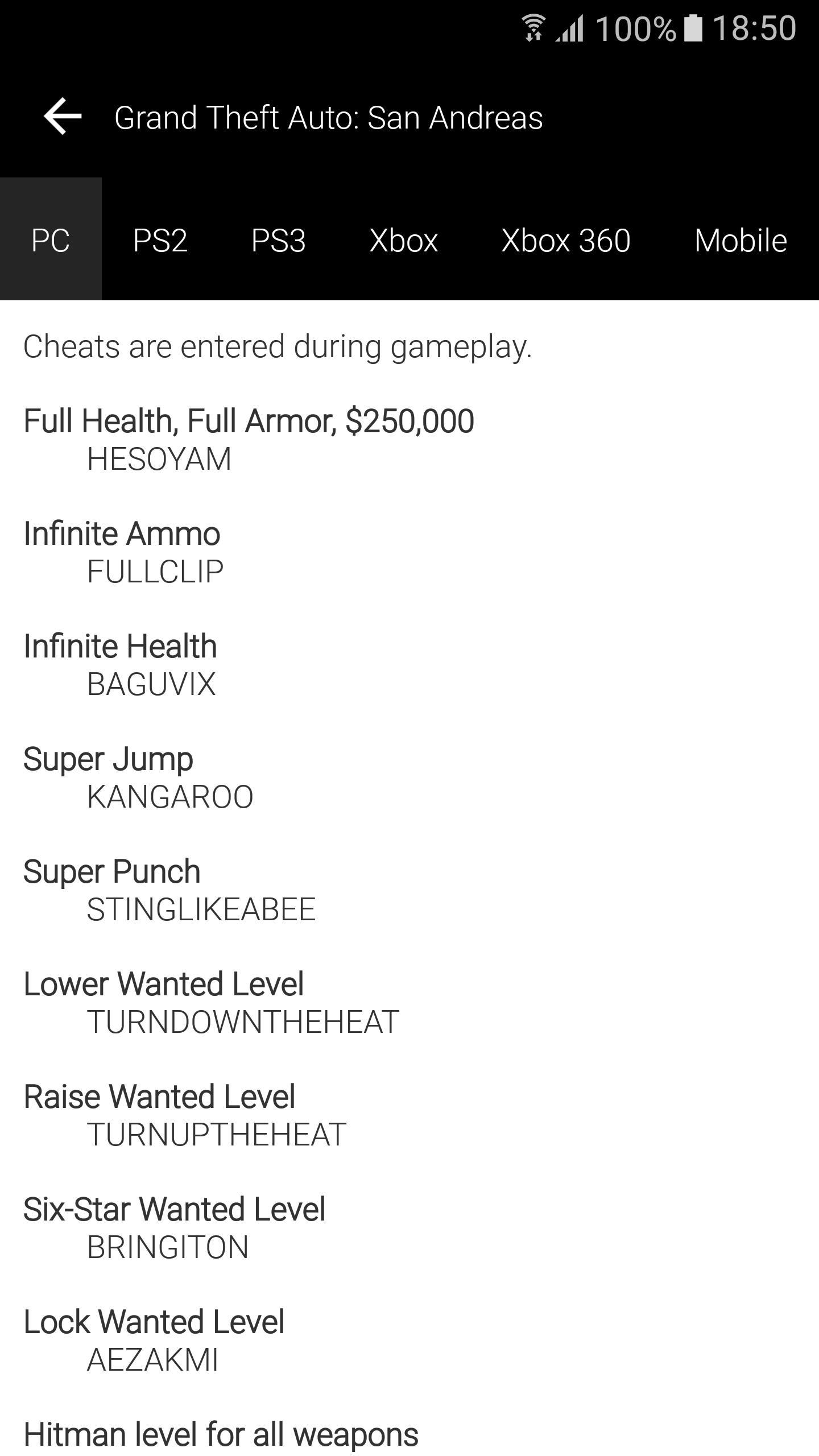 🏷️ Gta sa all cheats android | GTA San Andreas cheat codes