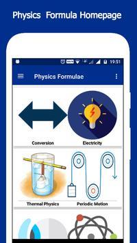 Physics Formulae poster
