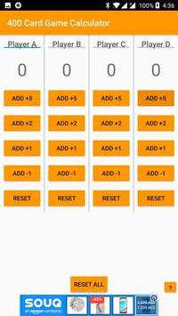 400 Card Game Calculator screenshot 1