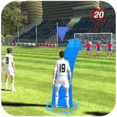 football freekick 3D icon