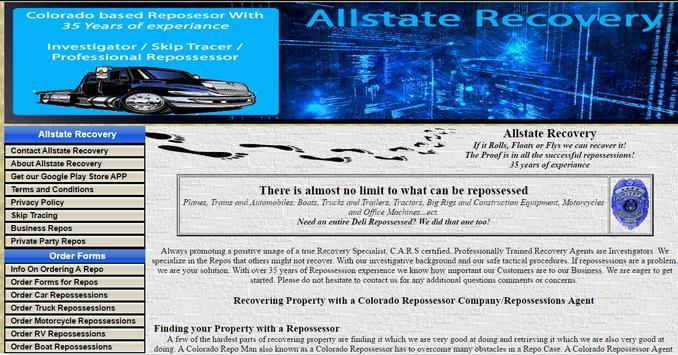 Allstate Recovery, Colorado Repo & Repossessions for Android