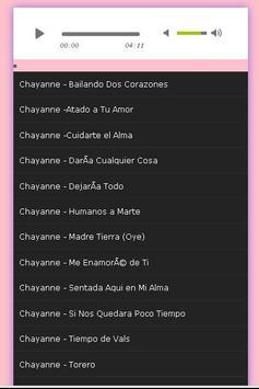 All Songs CHAYANNE apk screenshot