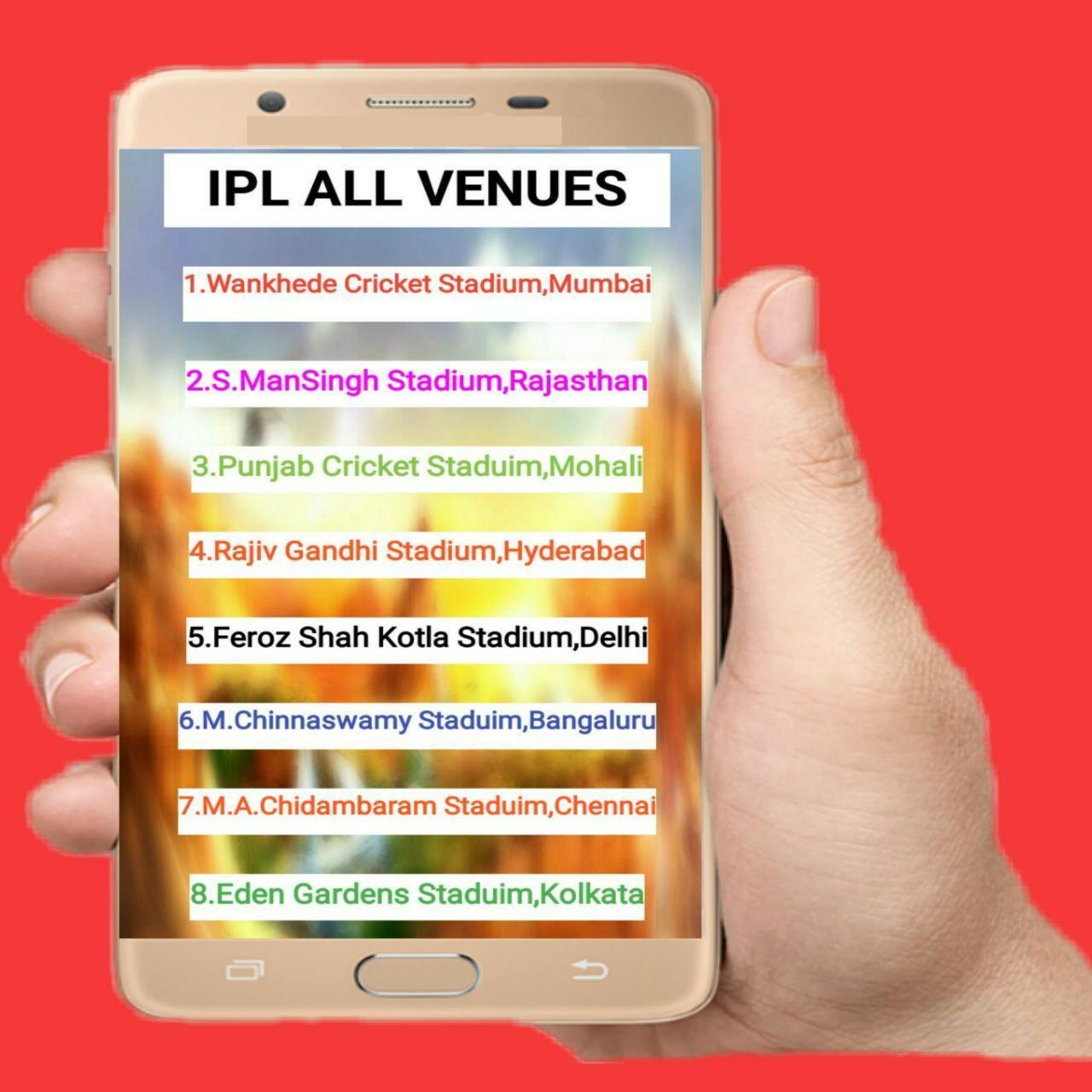 IPL 2018 Schedule and Fixtures poster