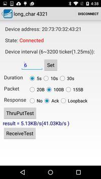 BLE Throughput apk screenshot