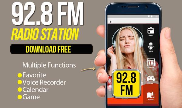 92.8 FM Radio free radio online poster