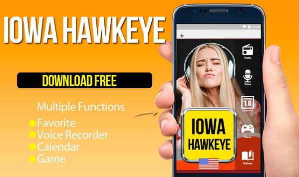 Iowa Hawkeye Radio poster