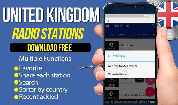 Radio Station For Free UK British Radio Music UK apk screenshot