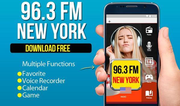 x 96.3 fm new york poster