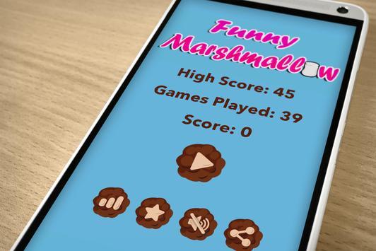 Funny Marshmallow Game apk screenshot