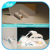 Awesome 3D Kirigami Card Instructions icon