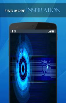 Blue Neon Tech wallpaper poster