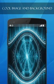 Blue Neon Tech wallpaper screenshot 1