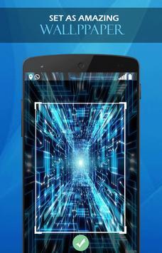 Blue Neon Tech wallpaper screenshot 2