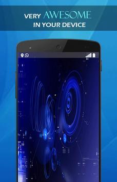 Blue Neon Tech wallpaper screenshot 3