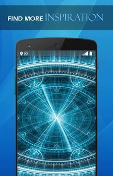 Blue tech wallpaper poster