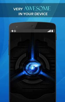 Blue tech wallpaper screenshot 3