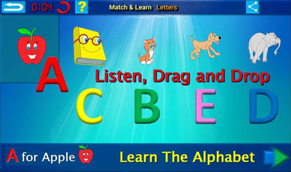 ABC 123 Learn English poster