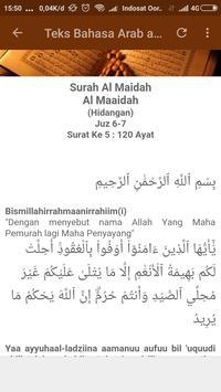 Surah Al-Maidah apk screenshot